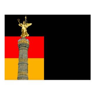 Victory Column (siegessaule),Berlin, German Flag Postcard