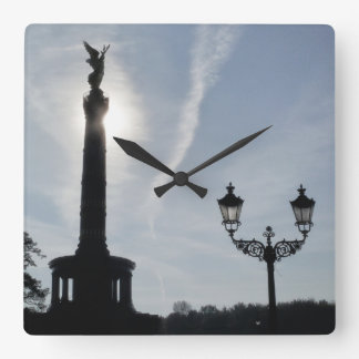 Victory-Column with street lamp 02, Berlin Square Wall Clock