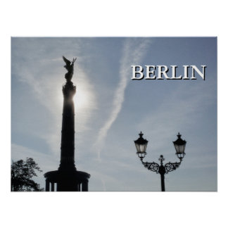 Victory-Column with street lamp 02.T, Berlin Poster