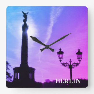 Victory-Column with street lamp 02.T.F.3, Berlin Square Wall Clock