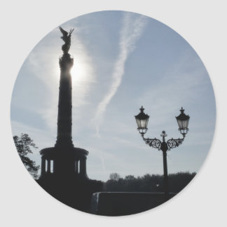 Victory-Column with street lamp, Berlin Classic Round Sticker