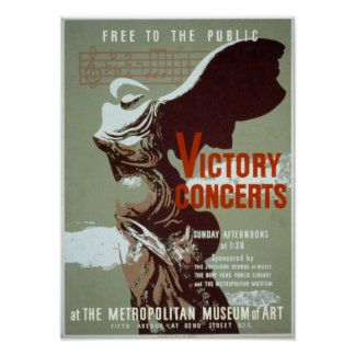 Victory Concerts Poster