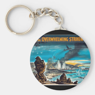 Victory depends on an_Propaganda Poster Keychain