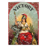 Victory - distressed greeting card