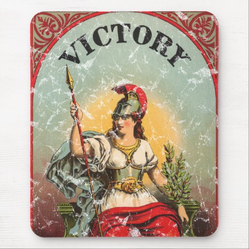 Victory - distressed mouse pad