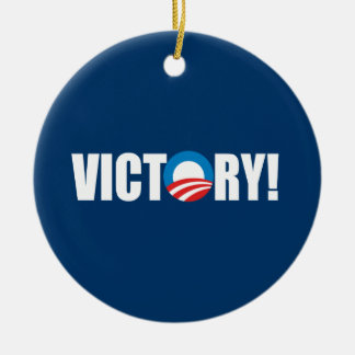 VICTORY Double-Sided CERAMIC ROUND CHRISTMAS ORNAMENT