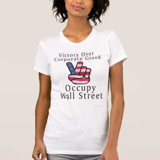 Victory Flag Fight Corporate Greed Tshirt
