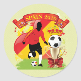 Victory for Spain Classic Round Sticker