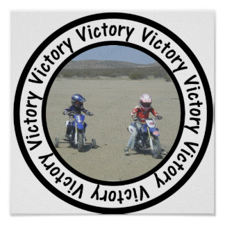 Victory Frame Circle Add Your Photo Poster