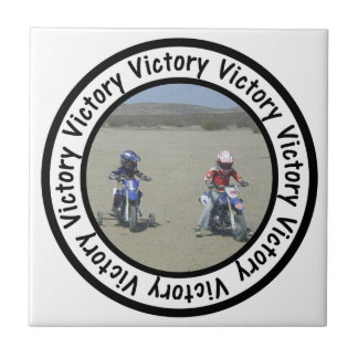 Victory Frame Circle Add Your Photo Tile