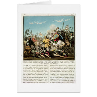 Victory Gained Over the English by Louis VIII (118 Greeting Card