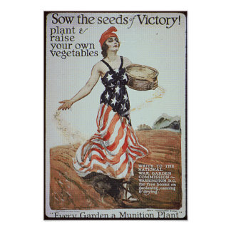 Victory Garden Ad Poster