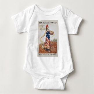 Victory Garden Liberty Sow Seeds WWI Propaganda Baby Bodysuit