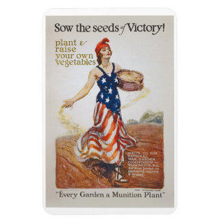 Victory Garden Liberty Sow Seeds WWI Propaganda Magnet