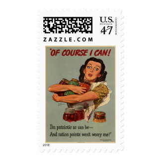 Victory Garden Of Course I Can WW2 Postage
