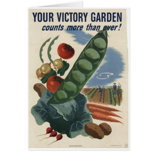 Victory Garden Poster World War 2 1945 Card Zazzle