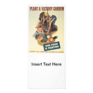 Victory Garden World War 2 Rack Card Design