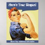 Victory Girl Rosie Riveter Custom Poster