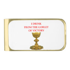 VICTORY GOLD FINISH MONEY CLIP