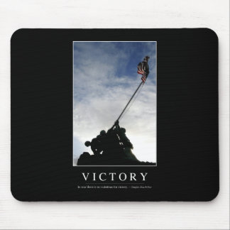 Victory: Inspirational Quote Mouse Pad