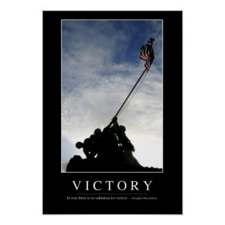 Victory: Inspirational Quote Poster