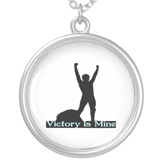 Victory Is Mine Silver Plated Necklace