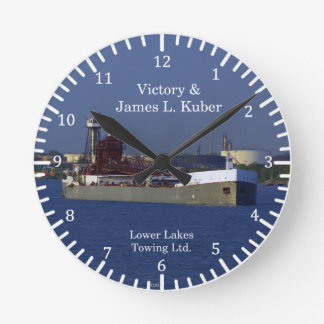 Victory & James L. Kuber LLC clock