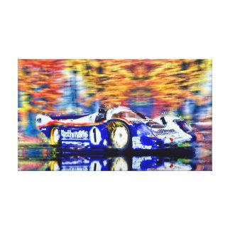 Victory Le Mans 1982 - Artwork Jean Louis Glineur Canvas Print
