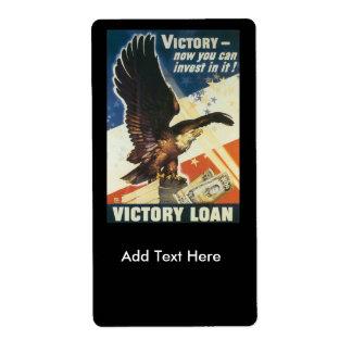 Victory Loan World War 2 Label