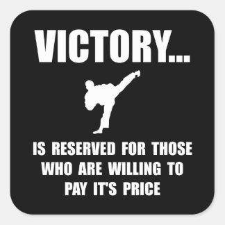 Victory Martial Arts Square Sticker