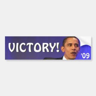 Victory Obama Bumperstickers Bumper Sticker