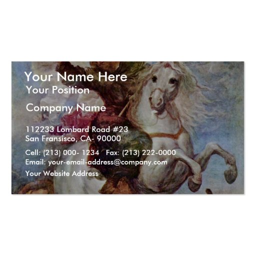 Victory Of St. James The Apostle On The Moors, Spa Business Card Templates