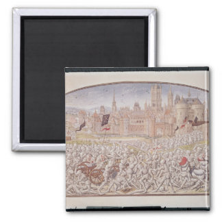Victory of the inhabitants of Ghent led by 2 Inch Square Magnet