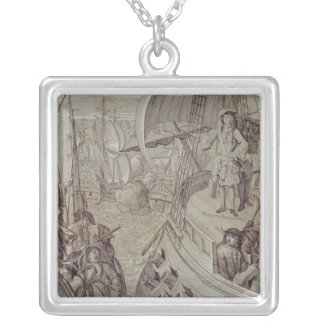 Victory of the Navy of Louis XIV Silver Plated Necklace