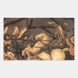 Victory over Bernardino della Ciarda by Paolo Ucce Rectangular Sticker