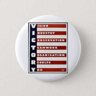 Victory Pinback Button