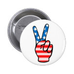 Victory (Red, White & Blue) Button