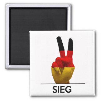 victory symbol hand germany sieg german text magnet