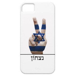 victory symbol hand israel hebrew jew text flag iPhone SE/5/5s case