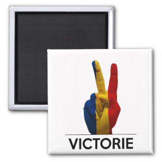 victory symbol hand romania victorie romanian text fridge magnet