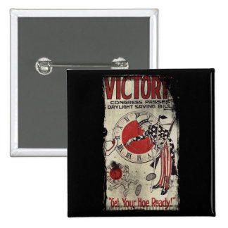 Victory Through Daylight Savings Time WWII Pins