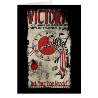Victory Through Daylight Savings Time WWII Card