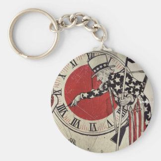 Victory Through Daylight Savings Time WWII Keychains