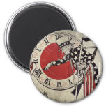 Victory Through Daylight Savings Time WWII 2 Inch Round Magnet