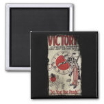Victory Through Daylight Savings Time WWII 2 Inch Square Magnet