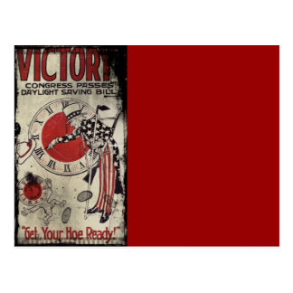 Victory Through Daylight Savings Time WWII Postcard