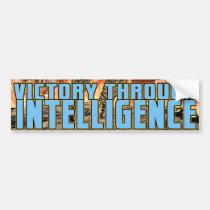 victory, intelligence, patriotism, Bumper Sticker with custom graphic design