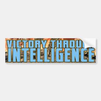 Victory Through Intelligence by Al Rio Car Bumper Sticker