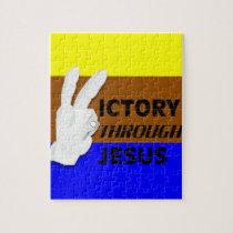 Victory through Jesus Jigsaw Puzzle