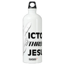 Victory through Jesus Water Bottle